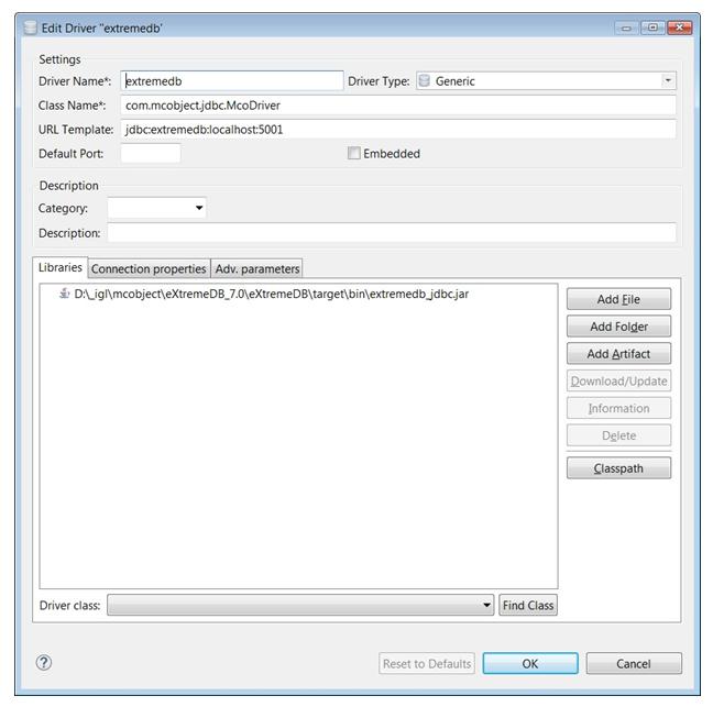 eXtremeSQL Support for DBeaver