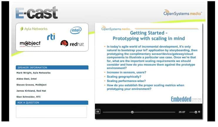 Screen shot from Scaling IoT Applications - Panel Discussion Part I