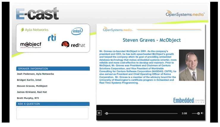 Screen shot from Scaling IoT Applications Webinar